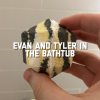Evan and Tyler in the Bathtub